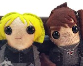 Harry Dresden and Karrin Murphy - Dresden Files plushies (made to order - may not arrive in time for Christmas)