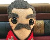 """Montgomery """"Scotty"""" Scott (mustache version) - Star Trek plushie (made to order)"""