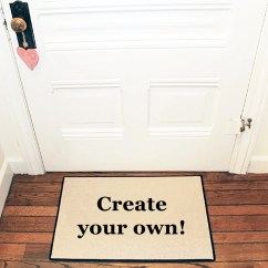 Custom Kitchen Rugs Glass Cabinets Create Your Own Personalized Doormat Logo Etsy Image 0