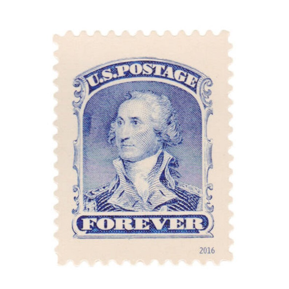 5 unused postage stamps