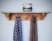 wood wall shelf with hook...