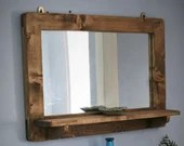Large mirror with shelf, ...