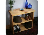 wooden shoe bench & rack,...