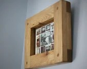 wood picture photo frame 5 X 7 crafted natural wood frame, Landscape & Portrait - sustainable custom modern rustic furniture in Somerset UK