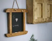 wooden chalkboard, traditionally handmade in Somerset farmhouse style from sustainable natural wood, country kitchen memo board, organiser