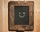 thick wood frame chalkboa...