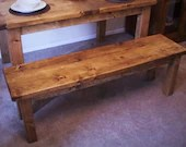 wooden bench seat, kitche...