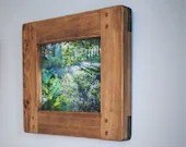 wooden frame for photo & picture, 10 x 8 inch large, dark real wood frame, modern rustic, landscape / portrait, custom handmade Somerset UK