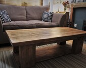 wooden coffee table with ...