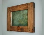 Wooden frame for photo & picture, 12 x 8 inch, large dark wood chunky frame, rustic industrial, boho, farmhouse, custom handmade Somerset UK