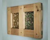 Muliti aperture picture & photo frame for x2 5 x 7 inch images, chunky wooden frame, custom, rustic, industrial, farmhouse, from Somerset UK