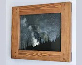 wooden frame for photo & picture 11 x 14 inch sustainable modern rustic natural wood dark frame, portrait / landscape, custom handmade in UK