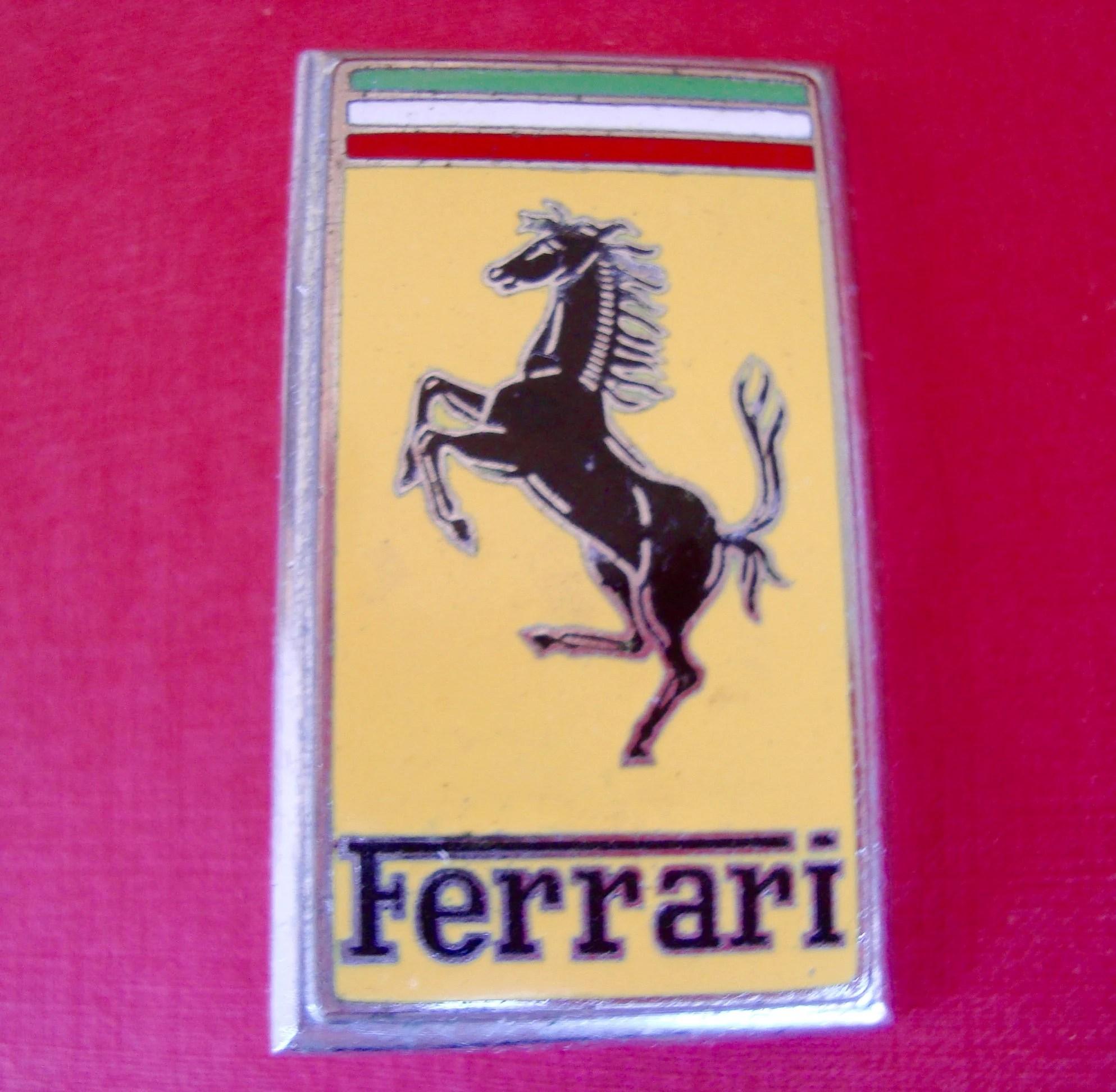 vintage ferrari emblem omea