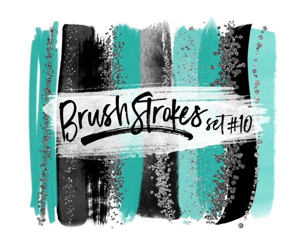 turquoise brush strokes teal