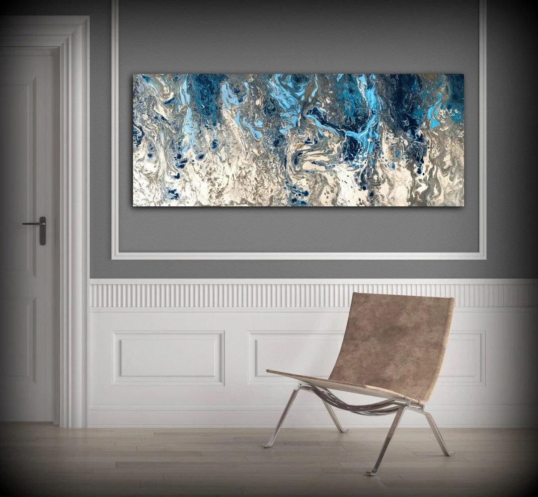 large abstract painting print