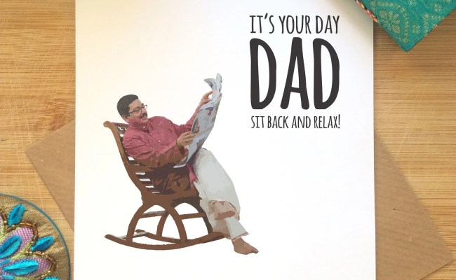 Indian Dad Card Funny Father S Day Card Desi Jokes Etsy