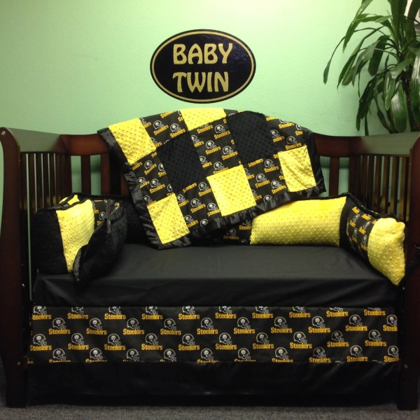 4 Pc Standard Crib Bedding Set Nfl Steelers
