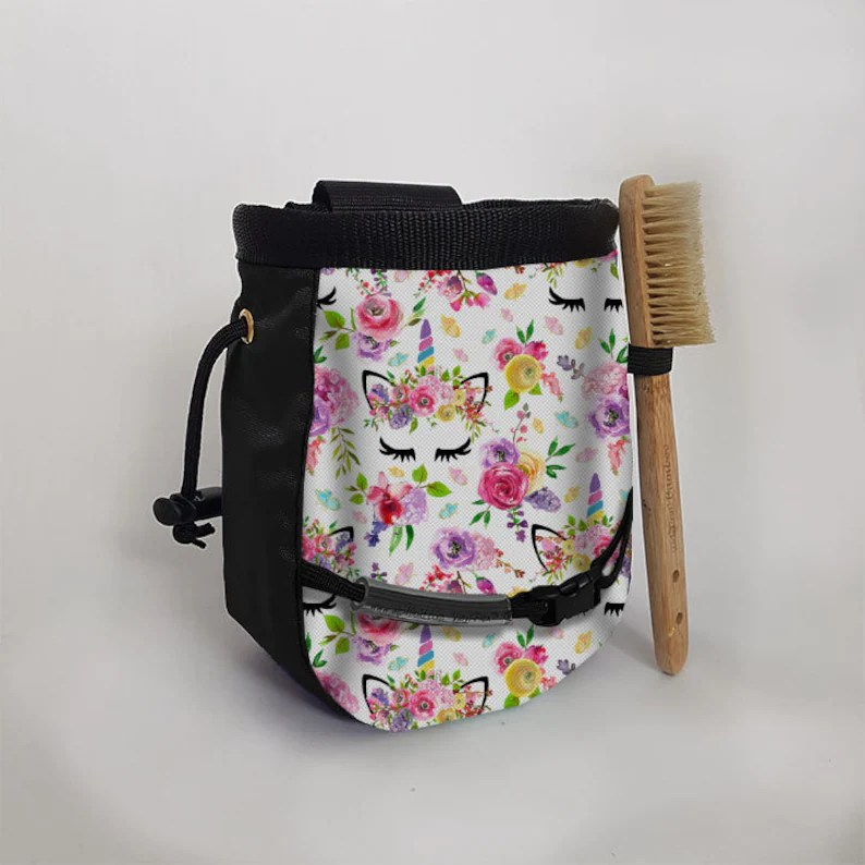 butterfly unicorns chalk bag