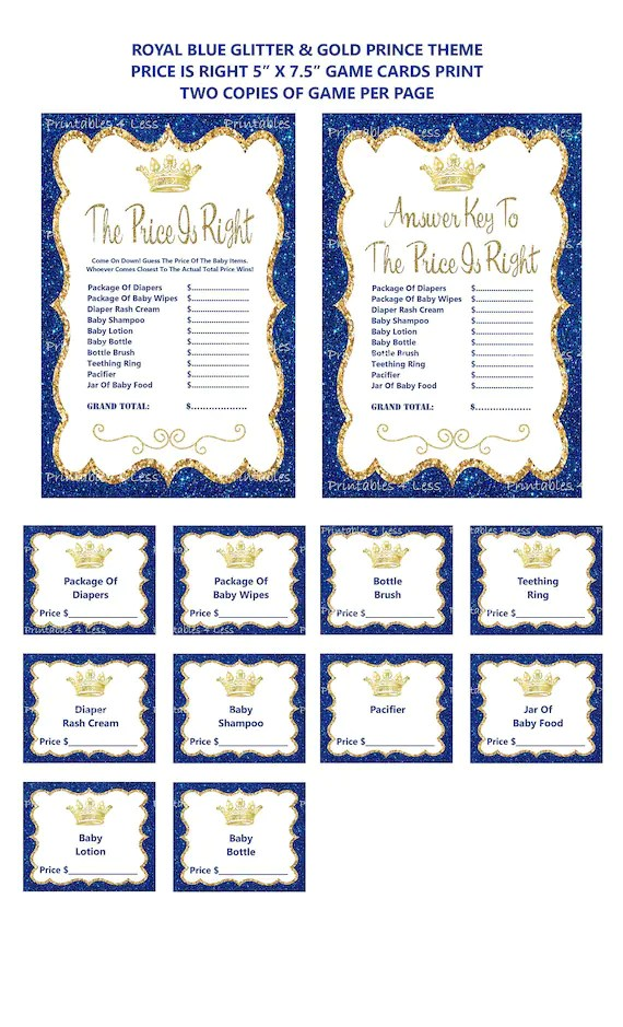 Price Is Right Answer Key : price, right, answer, Prince, Price, Right, Glitter