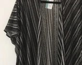 Black and white striped k...