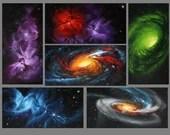 "2x4"" Magnet Space Outer Space Nebula Galaxy Deep Space Art Print Refrigerator Thin Flat Rectangular Magnet Stocking Stuffers"