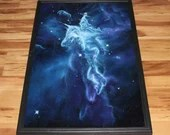 "24x36"" Original Oil Painting - Mystic Mountain Carina Nebula Galaxy Outer Space Deep Space Astronomy Stars Starry - Giant Large Wall Art"
