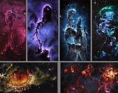 "2x4"" Magnet Space Outer Space Nebula Galaxy Deep Space Art Print Refrigerator Thin Flat Square Magnet"