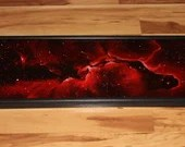 "12x36"" Original Oil Painting - Elephant's Trunk Nebula Galaxy Outer Space Deep Space Astronomy Stars Starry Wall Art"