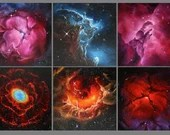 """4x4"""" Magnet Space Outer Space Nebula Galaxy Deep Space Art Print Refrigerator Thin Flat Square Magnet Stocking Stuffers"""