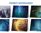 Forest Art Notecard Blank Card Set or Single Card Stationery