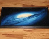 """12x24"""" Original Oil Painting - Andromeda Galaxy Nebula Outer Space Deep Space Astronomy Stars Starry Wall Art"""