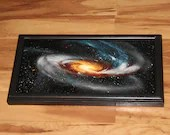 """8x16"""" Original Oil Painting - Tadpole Galaxy Nebula Outer Space Deep Space Astronomy Stars Starry Wall Art"""