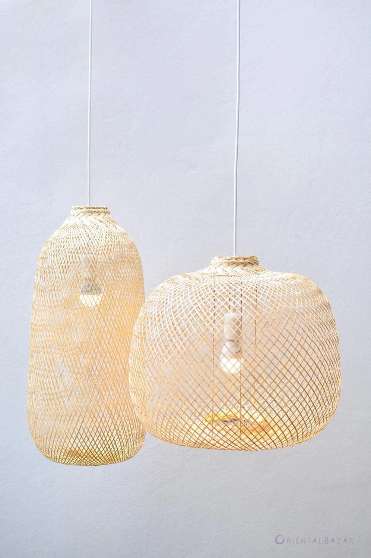 bamboo pendant light repurposed