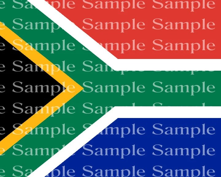 South African Flag Birthday Edible Cake And Cupcake Topper For