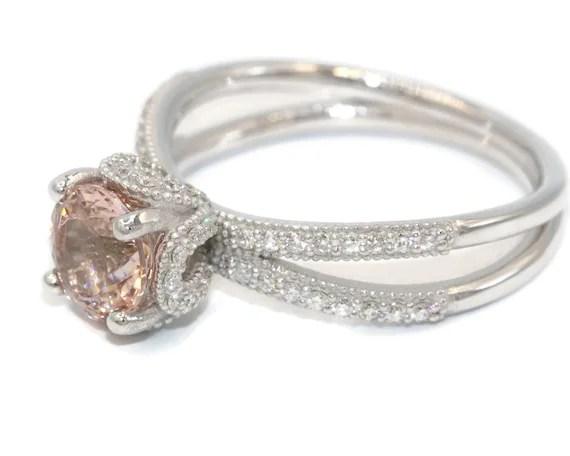 morganite engagement ring diamond