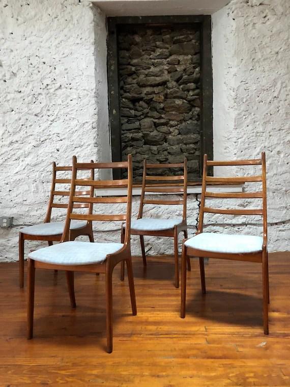 danish modern dining chair rocking repair kit mid century chairs teak etsy image 0