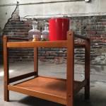 Mid Century Modern Bar Cart Teak Bar Cart Daniah Tea Cart Mid Century Bar