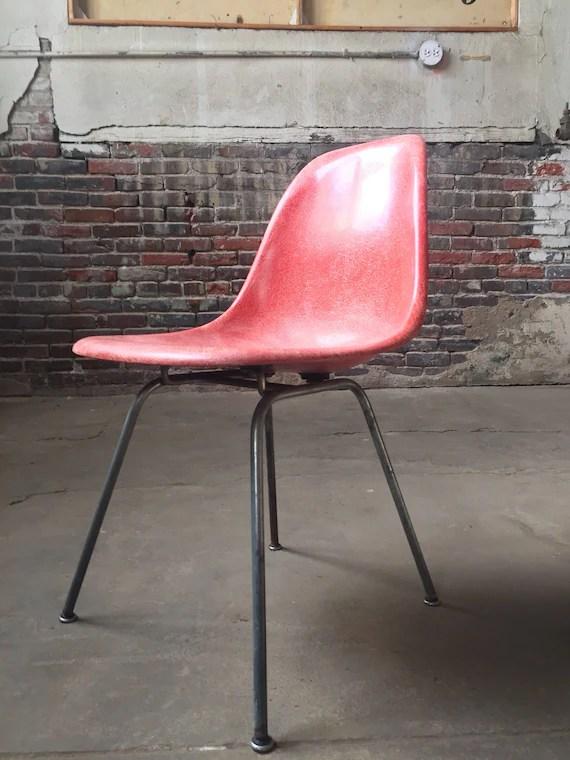 fiberglass shell chair straight back for elderly sold mid century modern eames etsy image 0
