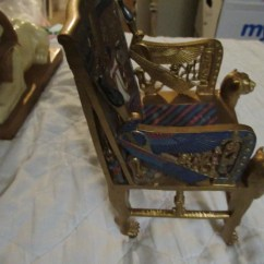 Kings Chair For Sale Small Metal Chairs Throne Etsy Vintage Egyptian Plastic Composition 7 1 2 Tall
