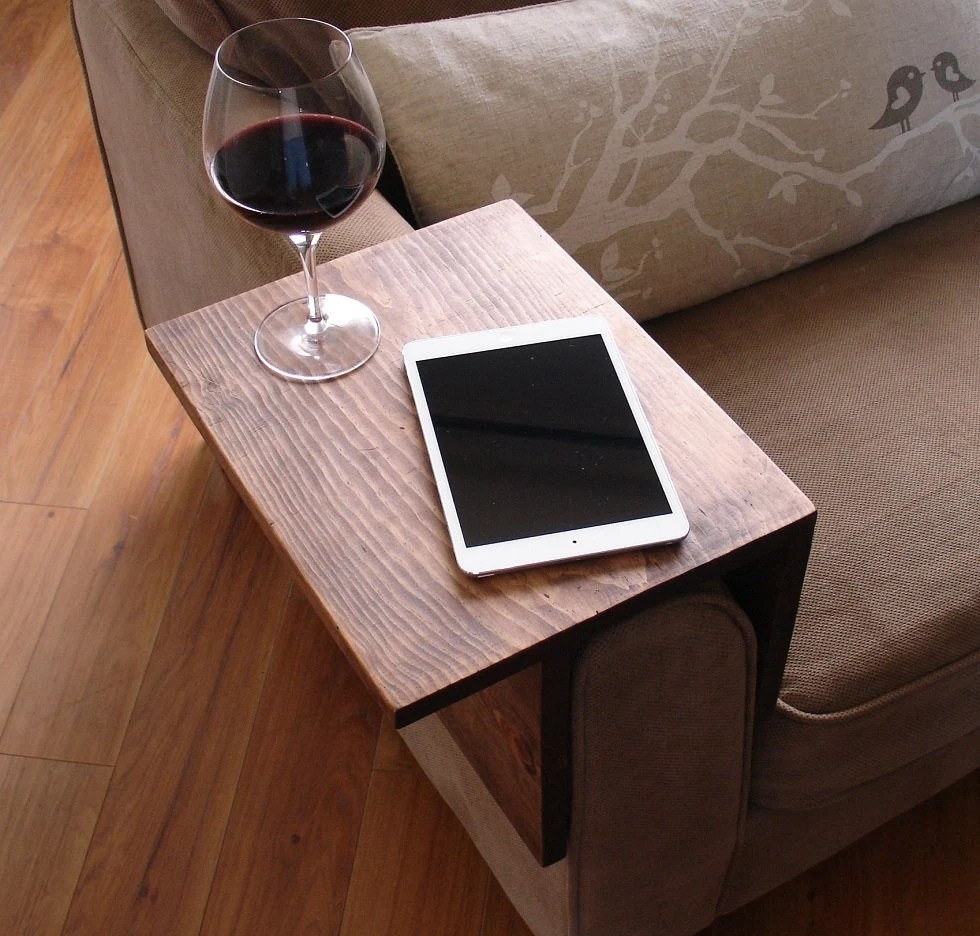 sofa arm how to make diy cover simply awesome couch rest wrap tray table for tablet etsy image 0