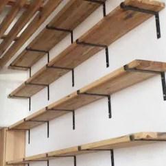 Kitchen Shelf Brackets Lowes Aid Iron Etsy Steel Bracket Modern Open Shelving Industrial L Metal Custom