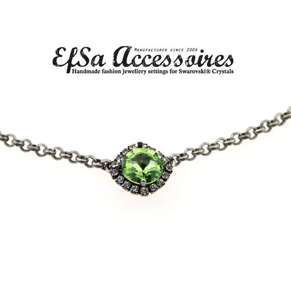 Empty cup chain necklace for SWAROVSKI® ELEMENTS no.1122