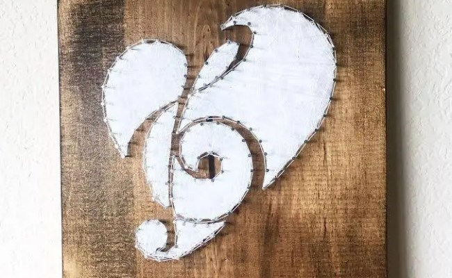 Music Note String Art Music Art Gifts For Musicians Music
