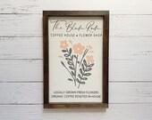 The Bloom Room Floral Wooden Sign