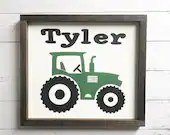 Personalized Tractor Sign for Kids