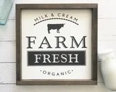 Farm Fresh Milk Farmhouse sign