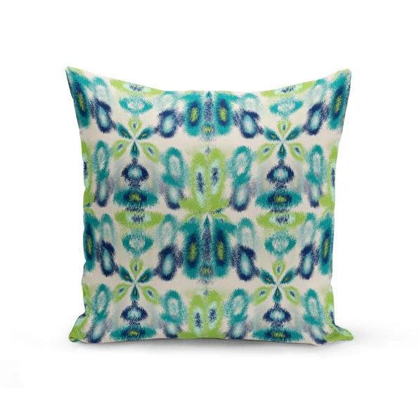 Outdoor Throw Pillow Outdoor Pillow Navy Teal Beige Green