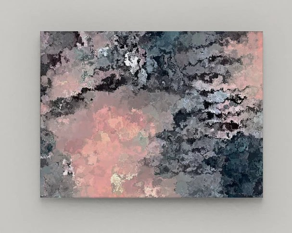 Navy Pink Wall Art Canvas Navy Pink Grey Black White Wall Etsy ...