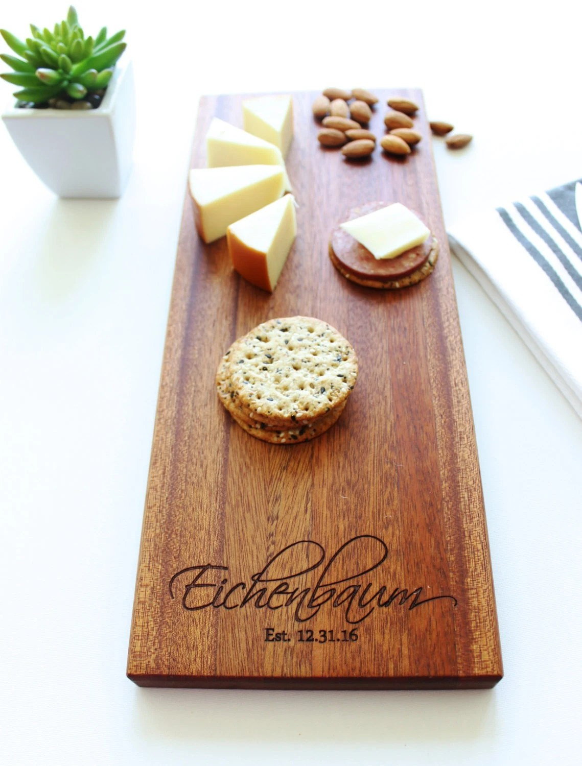 Cheese Board Personalized Cutting Board Christmas Gift Gift image 1