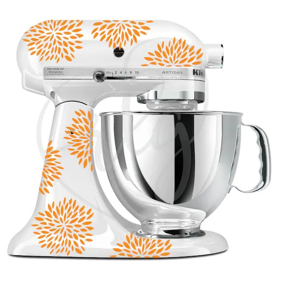 Any Color Flower Mixer Decals Kitchenaid Stand Up Mixer